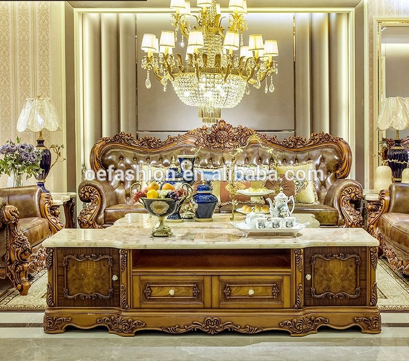Oe Fashion Luxury Leather Living Room Wood Carving 1 2 3 Seater Sofa Set View Carved Wood And Leather Sofa Sets Oe Fashion Product Details From Foshan Oe Fash Living Room Leather Leather Sofa Set Living