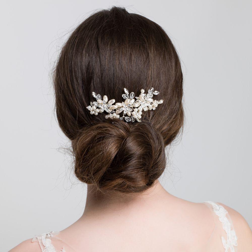 pearl wedding hair comb | elaine side hair slide | lily luna