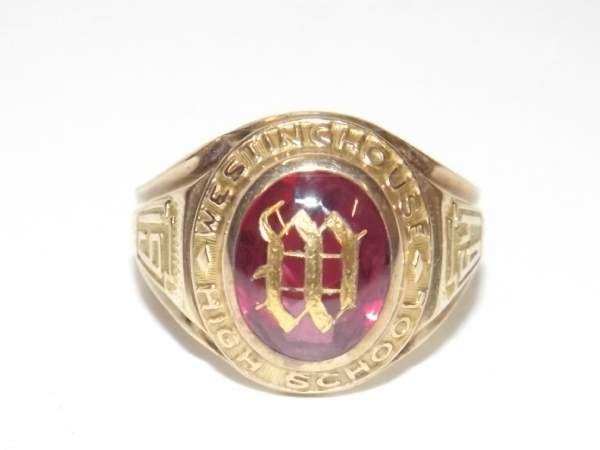 10 Karat Gold Sz 7 Ruby 1964 Hs Class Ring 4 87g Class Ring Rings Gold