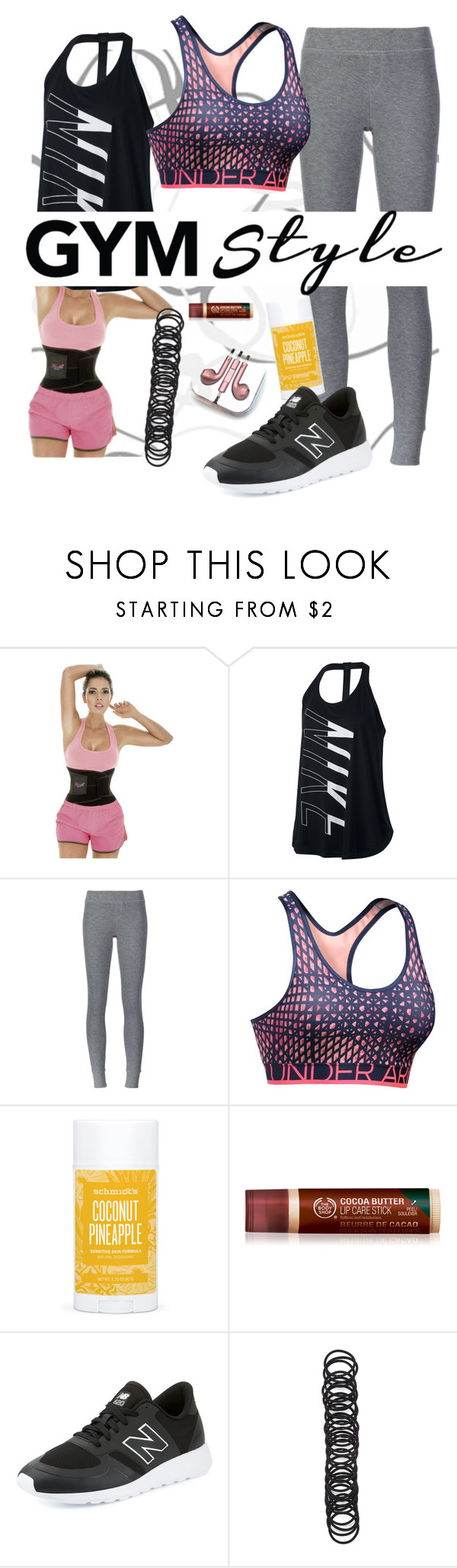"""Memories Lie"" by chelsofly on Polyvore featuring NIKE, ATM by Anthony Thomas Melillo, Under Armour, Schmidt's, New Balance, Forever 21, PhunkeeTree, gym and gymessentials"