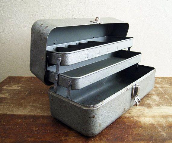 Vintage Metal Tackle Box My Buddy Toolbox By Twentytimesi On Etsy Tool Box Vintage Tools Antique Tools