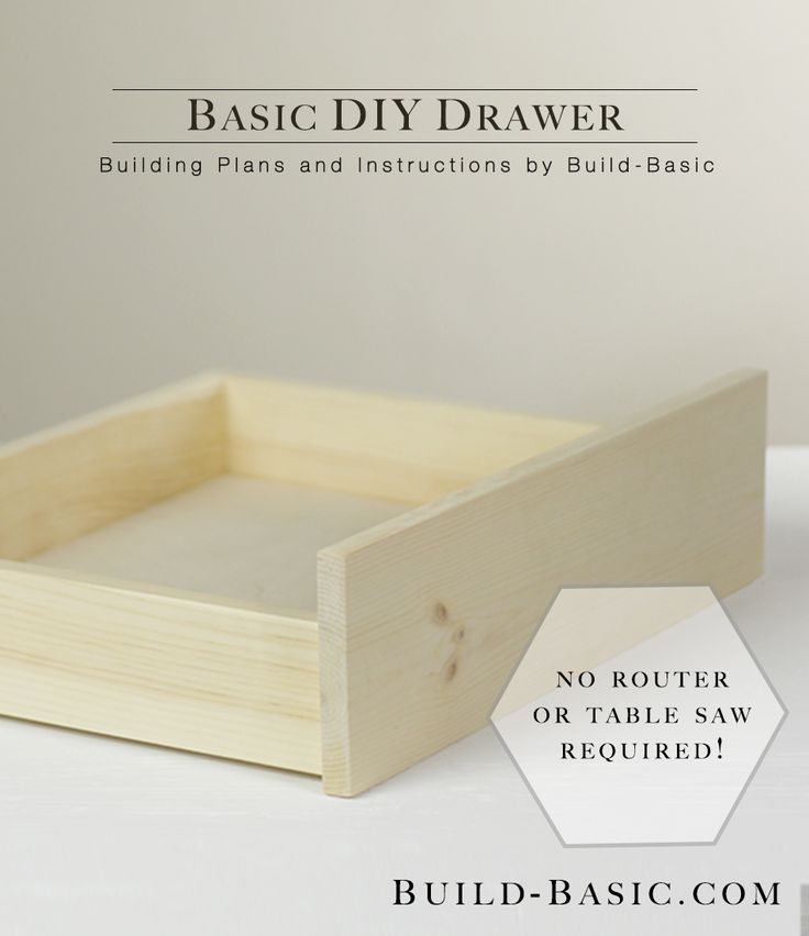 Build A Basic Diy Drawer Diy Drawers Wood Diy Woodworking Projects