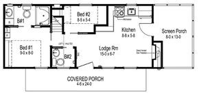 Eco 26 Cavco Park Models I Like This Floorplan A Lot 2 Bedroom 1 1 2 Bath Around 13 X 34 Maybe 450 Sf Park Model Homes Park Models Rv Floor Plans
