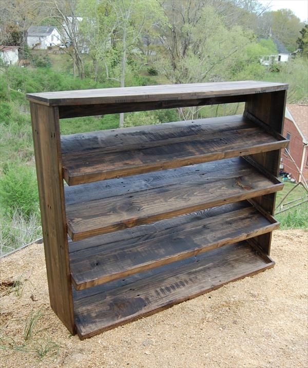 Horseshoe key or jewelry holder made from a recycled and for Shoe rack made from pallets