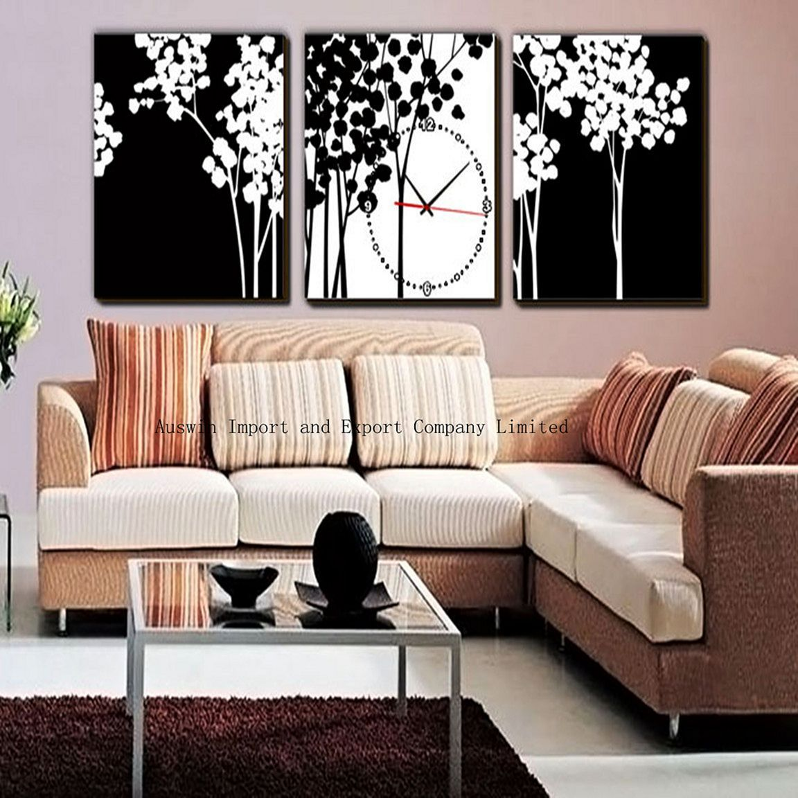 beautiful living room wall decor with clocks ideas clock ideas