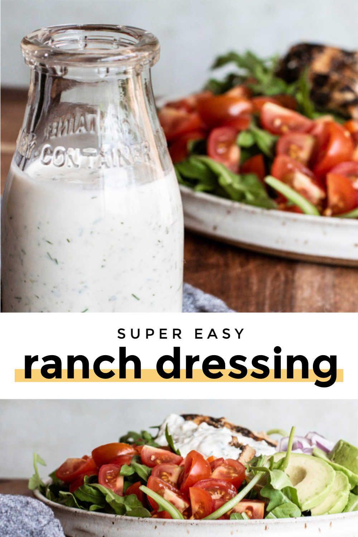 Homemade ranch dressing keto low carb recipe