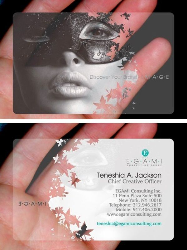 I really want to design my own transparent business cards ...