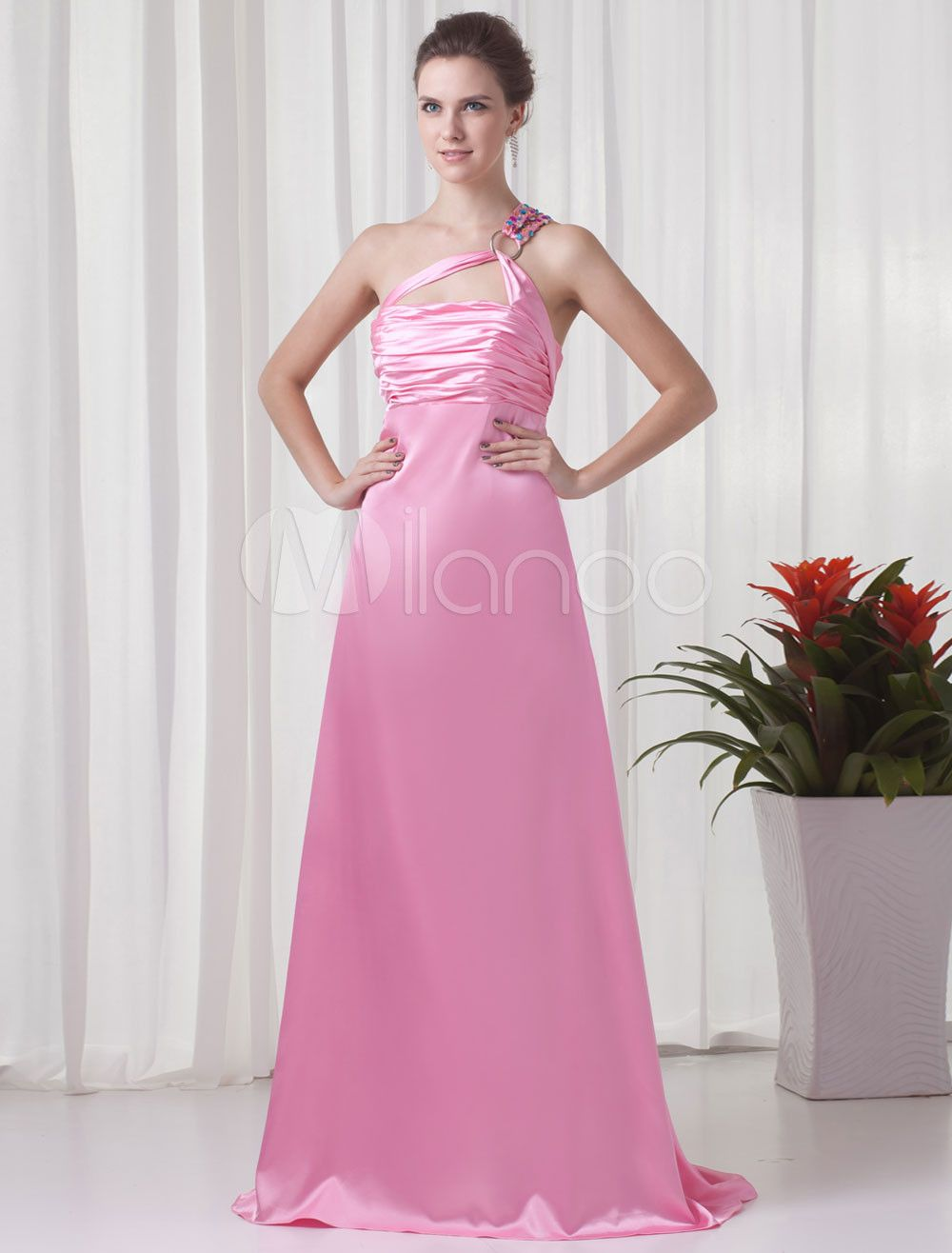 Milanoo.com Ltd #Prom Dresses #Sheath #Pink #One-Shoulder #Prom ...