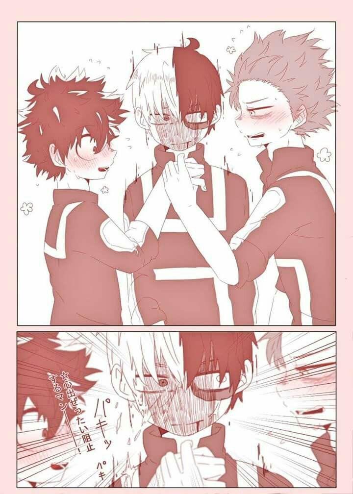 Boku No Hero Academia Midoriya Izuku Shinsou Hitoshi Todoroki Shouto Tododeku Mha Hero My Hero Academia Manga My Hero Academia