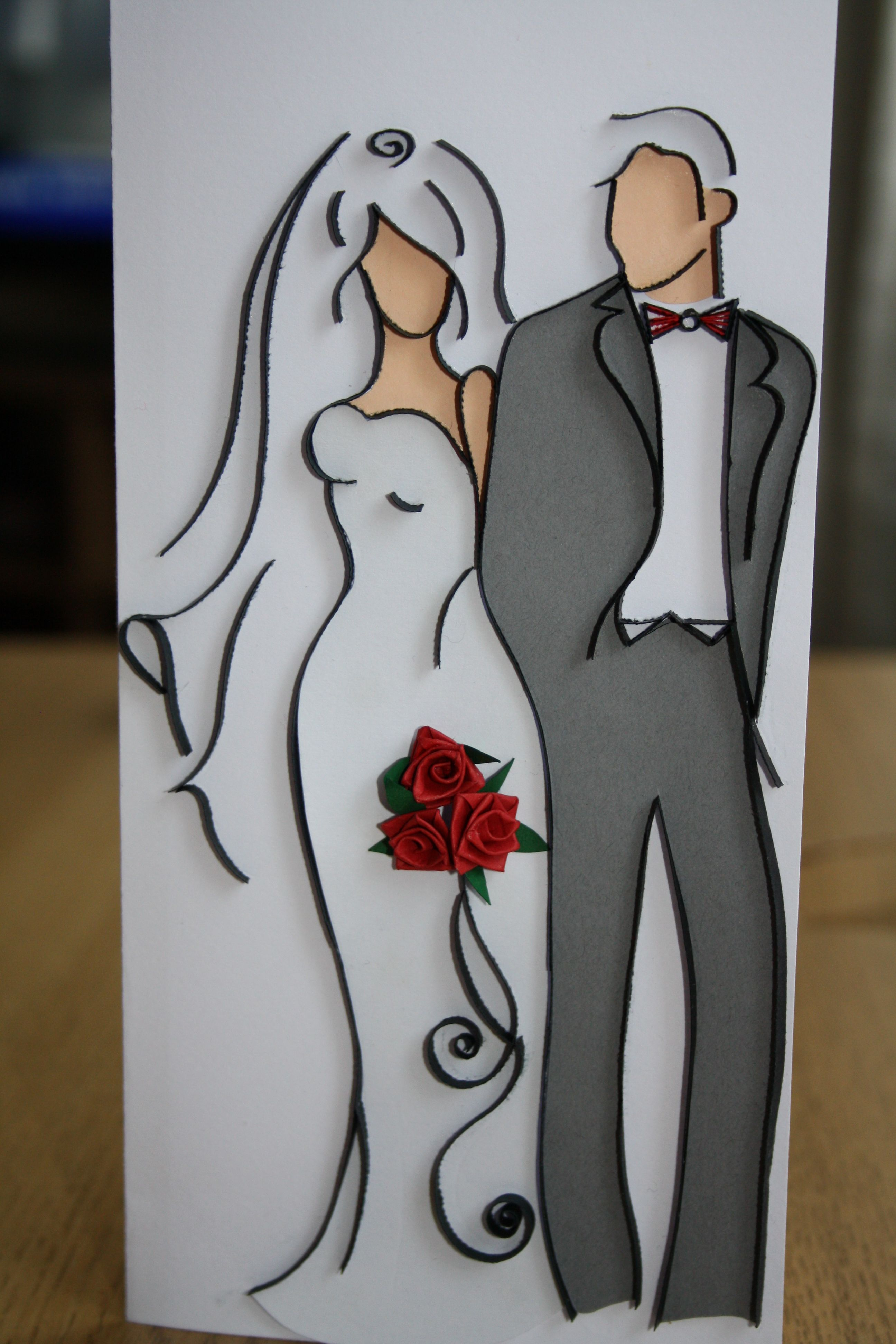 Рисунки жених и невеста на открытке