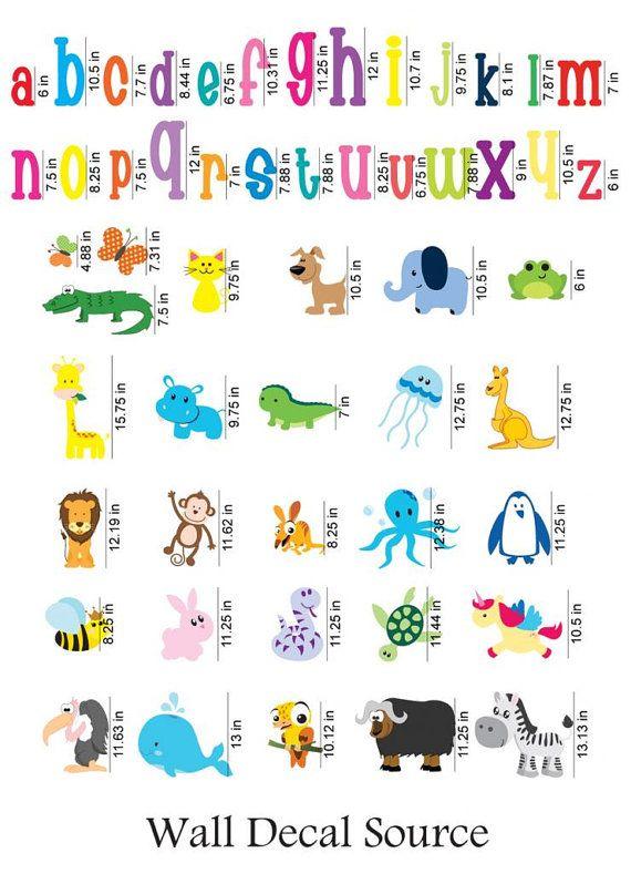 Abc Wall Decal Animal Alphabet Nursery By