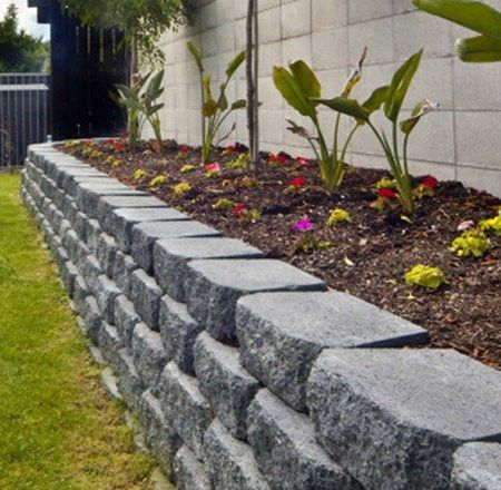 GardenWall2 Garden Edging Ideas Pinterest Retaining Blocks Landscaping