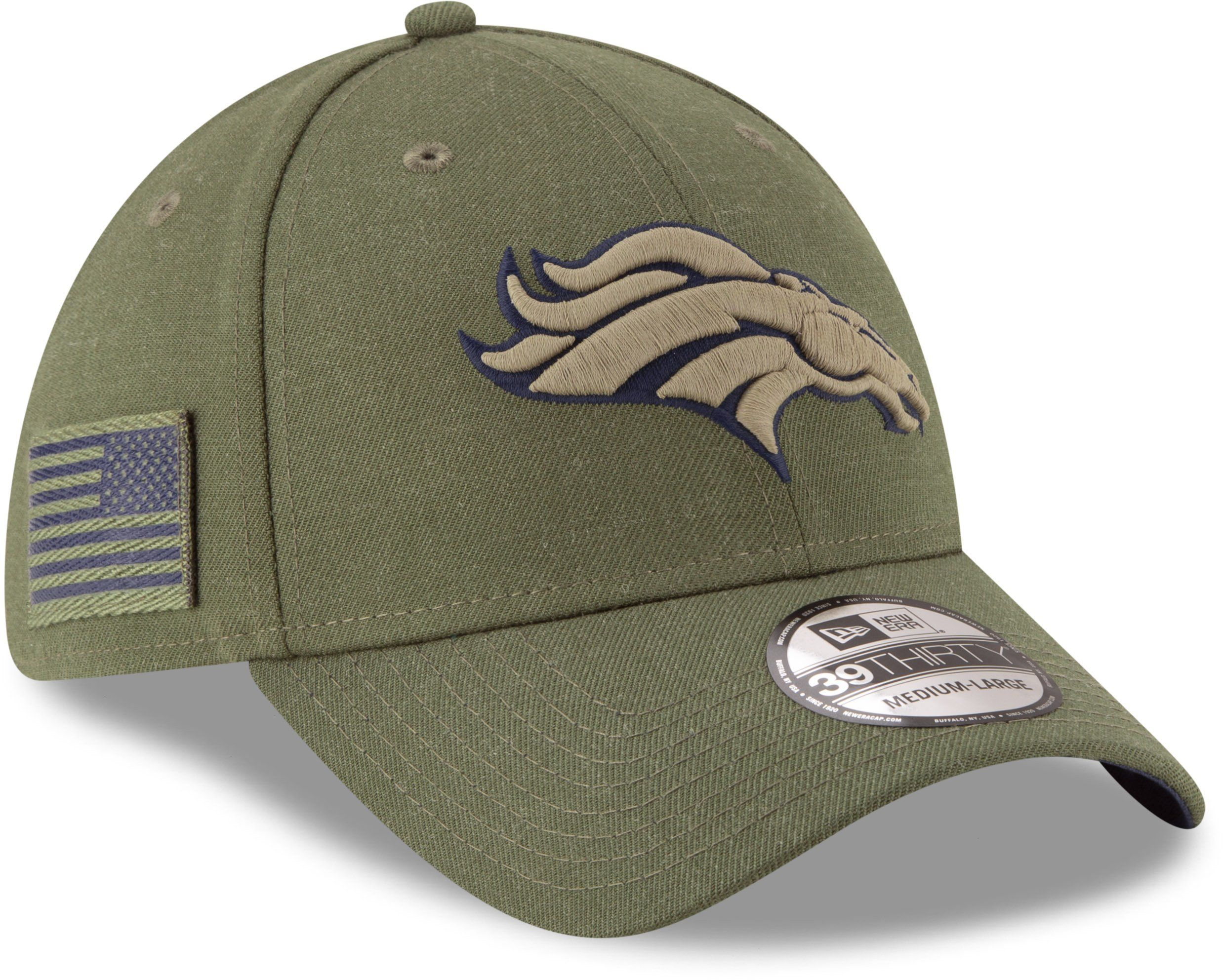 d5757cb30b8 New Era Men s Salute to Service Philadelphia Eagles 39Thirty Olive Stretch  Fit Hat in 2018