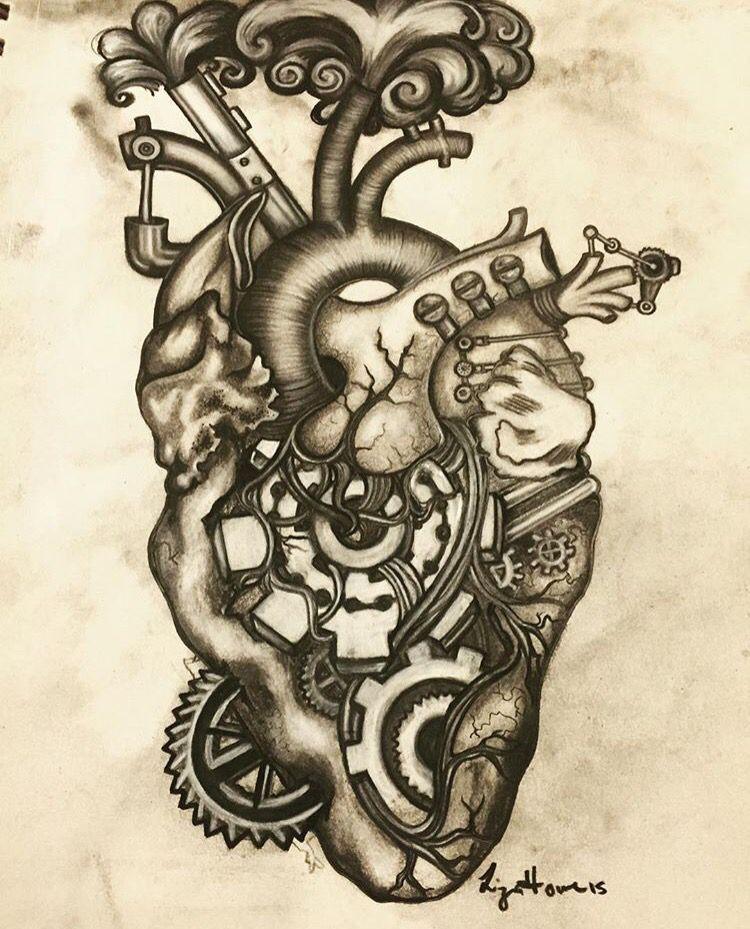 Mechanical | Heart | Pinterest | Tattoo, Anatomy and Drawings
