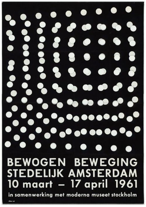 Bewogen Beweging poster / Dieter Roth