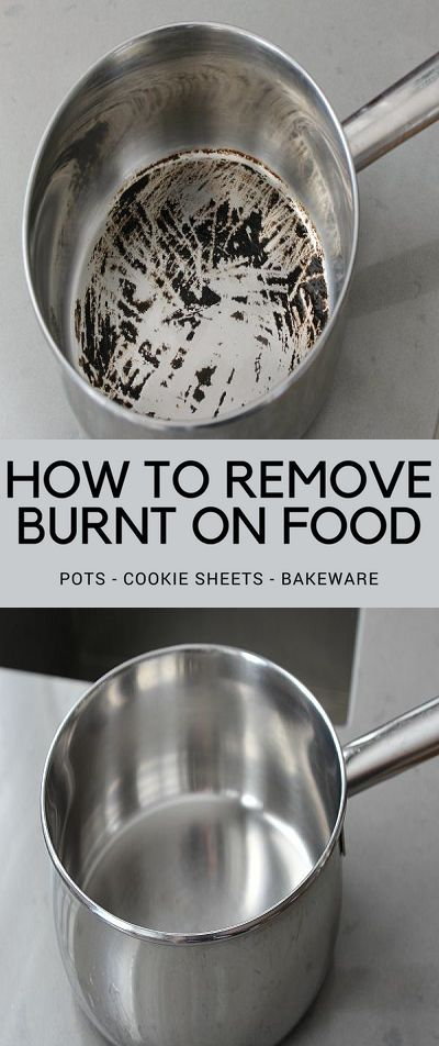 how to remove burnt sugar