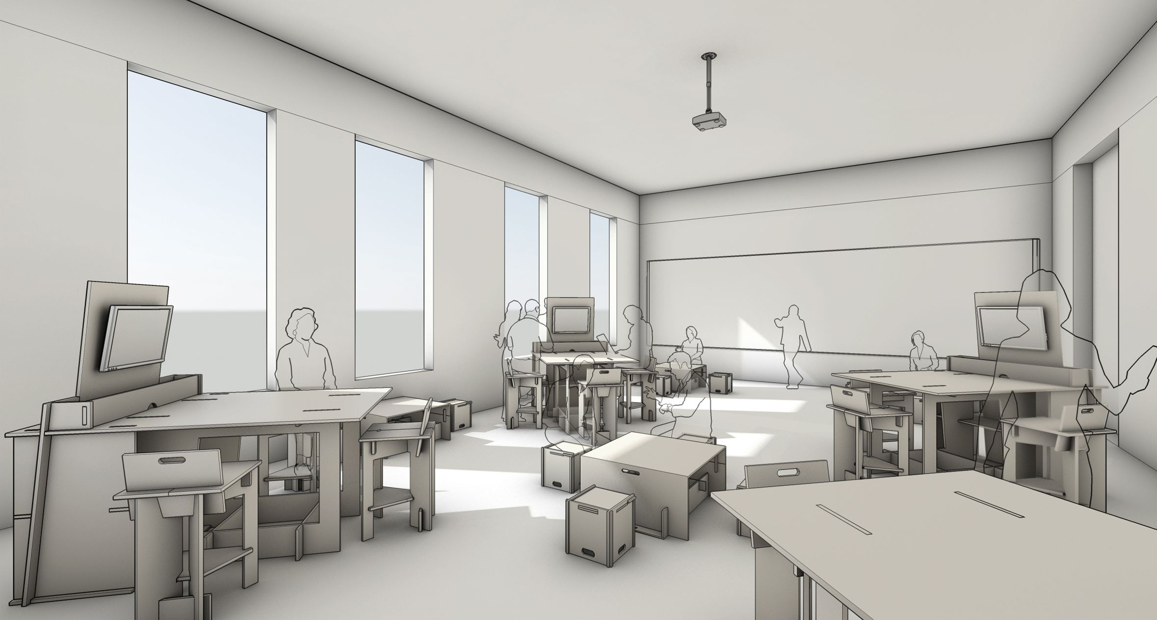 Classroom Design Architecture : Rewired rethink education st century classroom and
