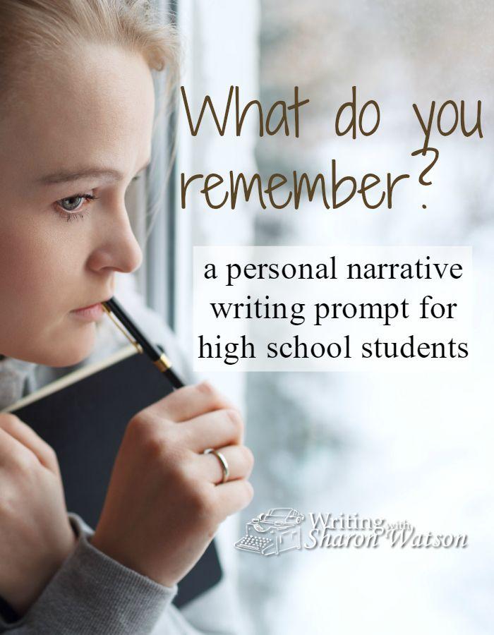 personal narrative prompts high school