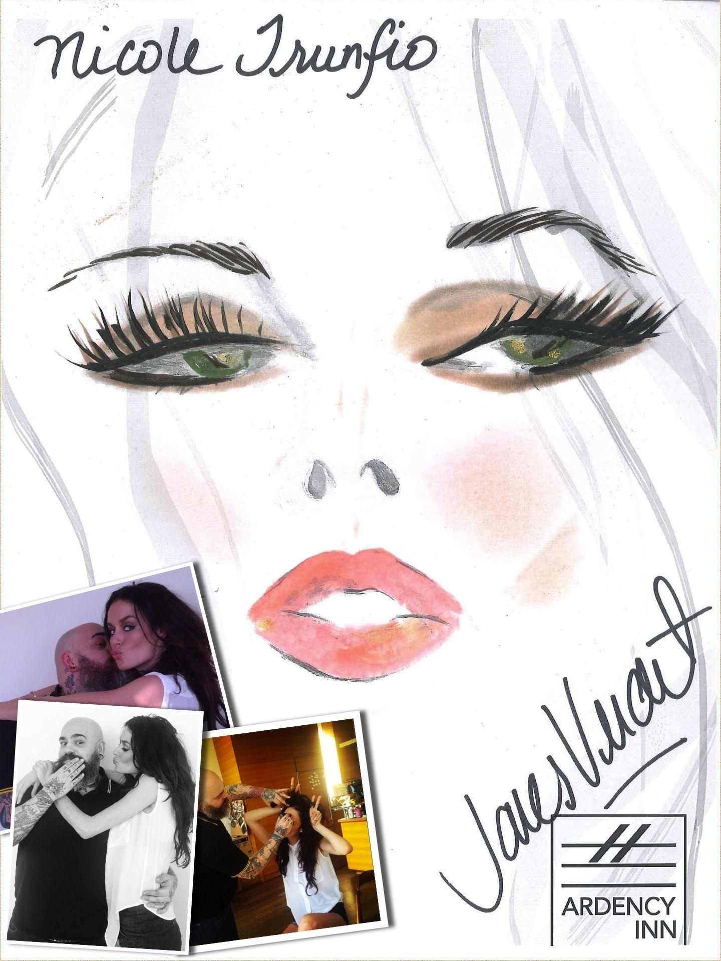 James Vincent's face chart for the gorgeous and glamorous Nicole Trunfio. #ArdencyInn