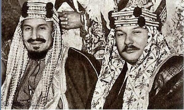 King Abdulaziz And King Farouque الملك عبدالعزيز والملك فاروق Ancient Egypt History Egypt History Egyptian History