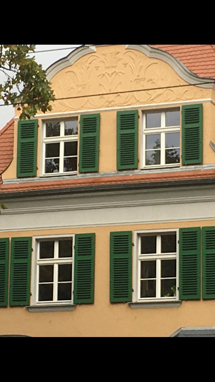 Fensterladen In Holz Grun Oberflachenbehandelt Fensterladen In
