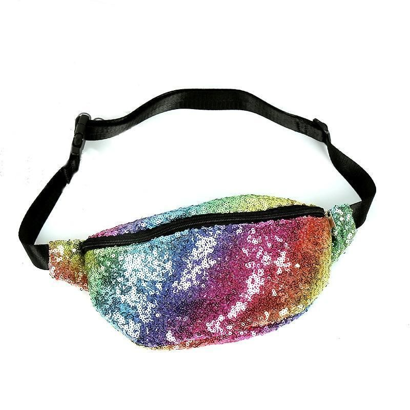 Rainbow Bumbag Pride Gay Fanny Pack LGBT Waist Belt Travel Pouch Bag New