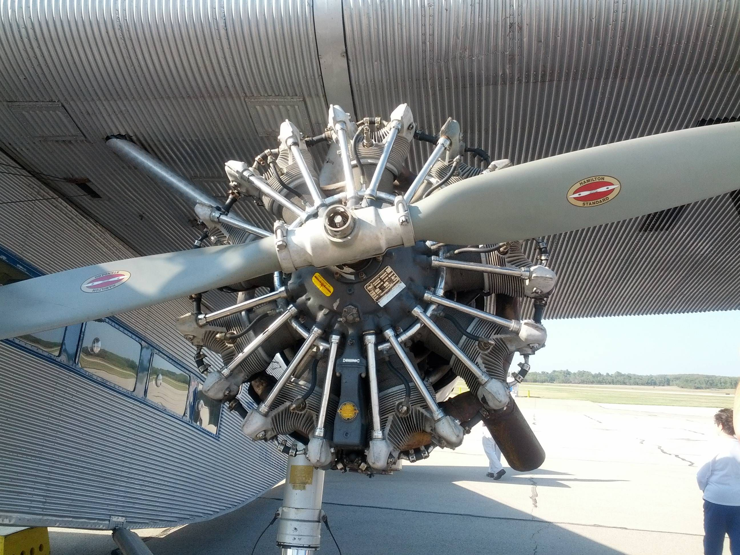 Pratt & Whitney Wasp radial piston engine from a 1929 Ford
