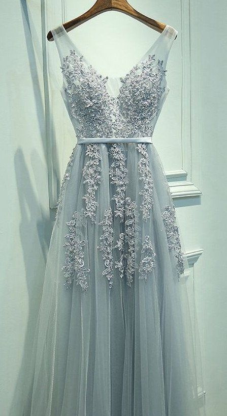2017 New Appliqued Long Prom Dress Long Winter Formal Dress P013