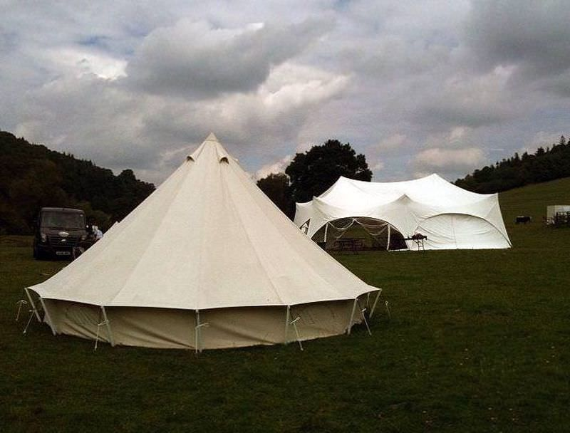 Luxury canvas bell tent without a floor