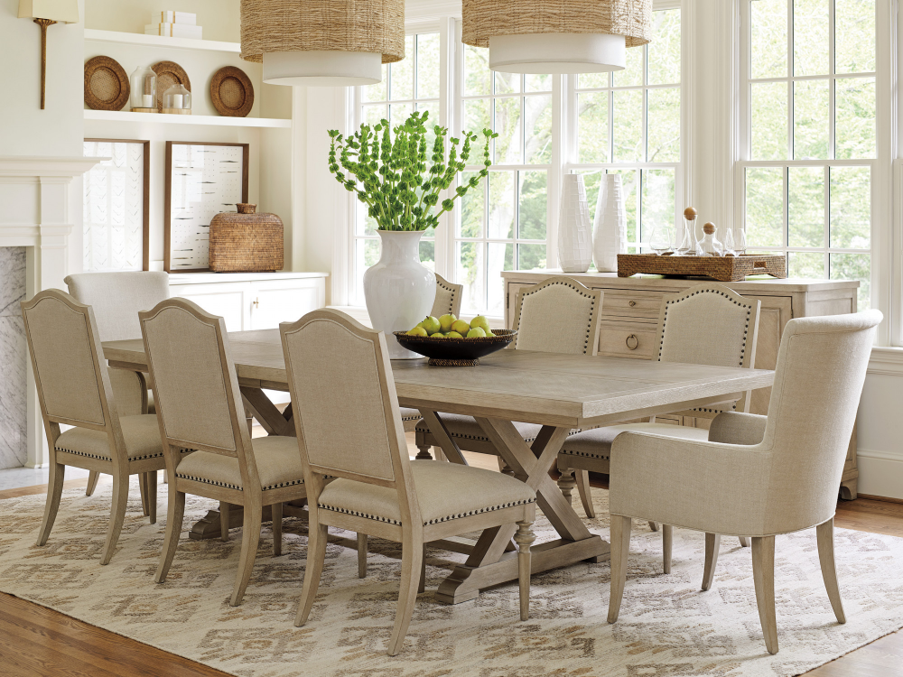 Barclay Butera Malibu Collection Rockpoint Rectangular Dining Table Lexington Home Br In 2020 Rectangular Dining Table Dining Table Furniture Dining Table