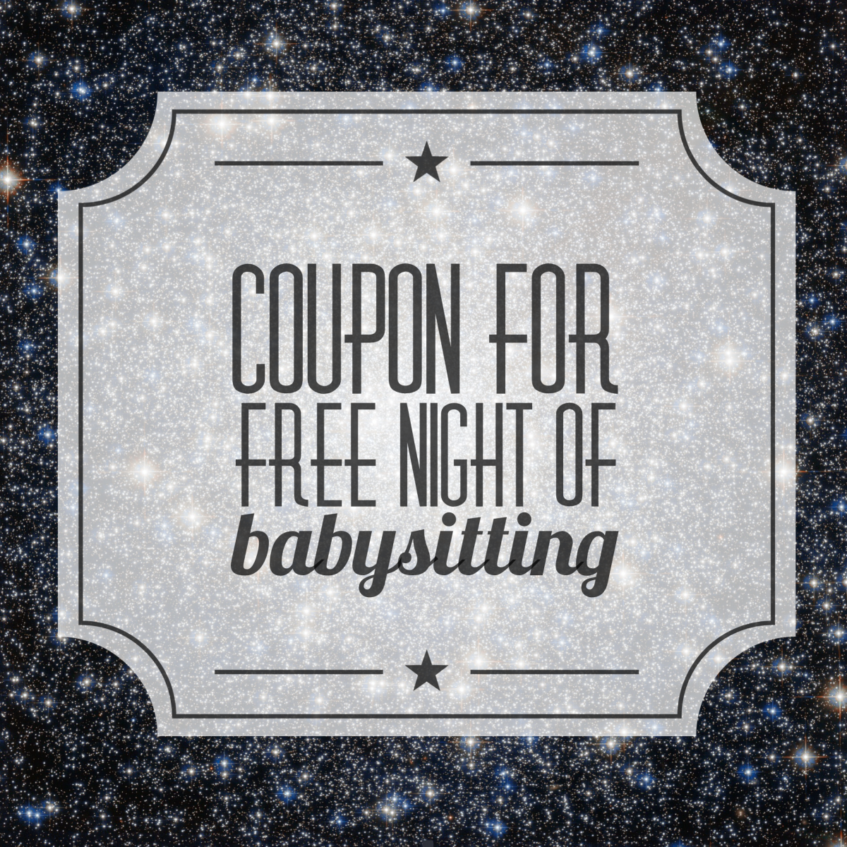 picture about Printable Babysitting Coupon referred to as Free of charge Printable discount coupons for babysitting. The Reward of