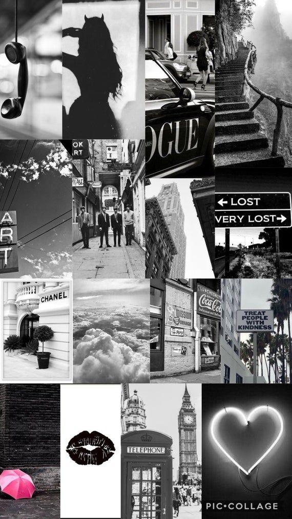 Monochrome Collage Kit - 32 pc set