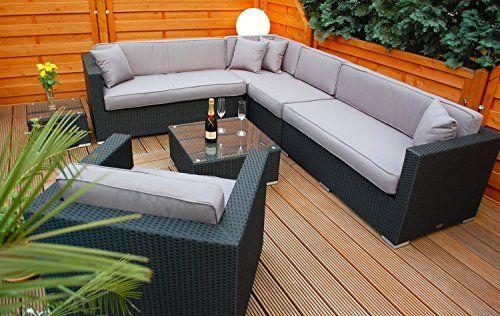 Polyrattan Lounge mit Tisch und Polster Gartenlounge Trends and