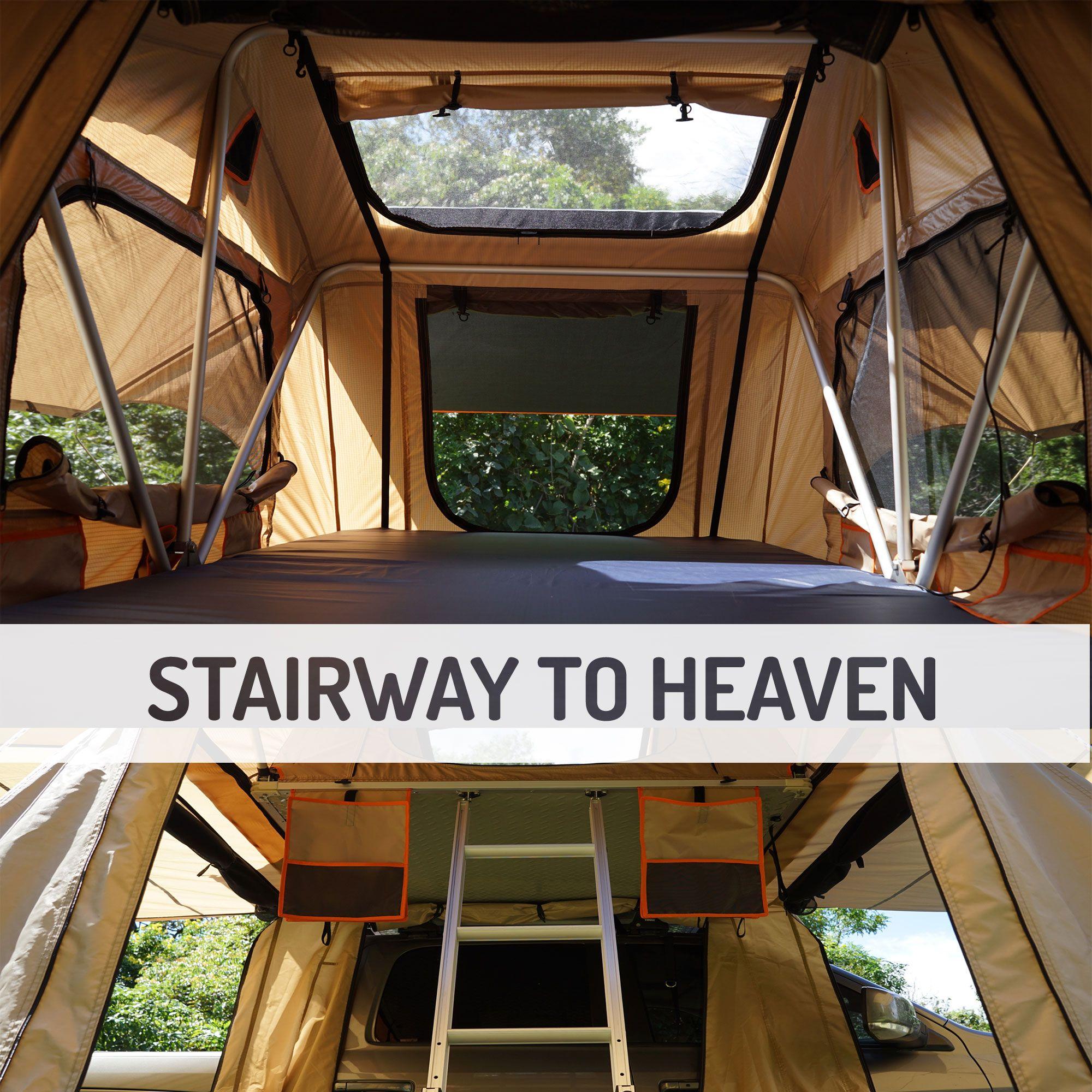 Guana Equipment Wanaka 55 Roof Top Tent Setup With Xl Annex 3 Person Roof Top Tent Rooftop Tent Camping Top Tents