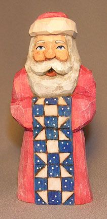 Quilt Santa #woodcarvingtoo