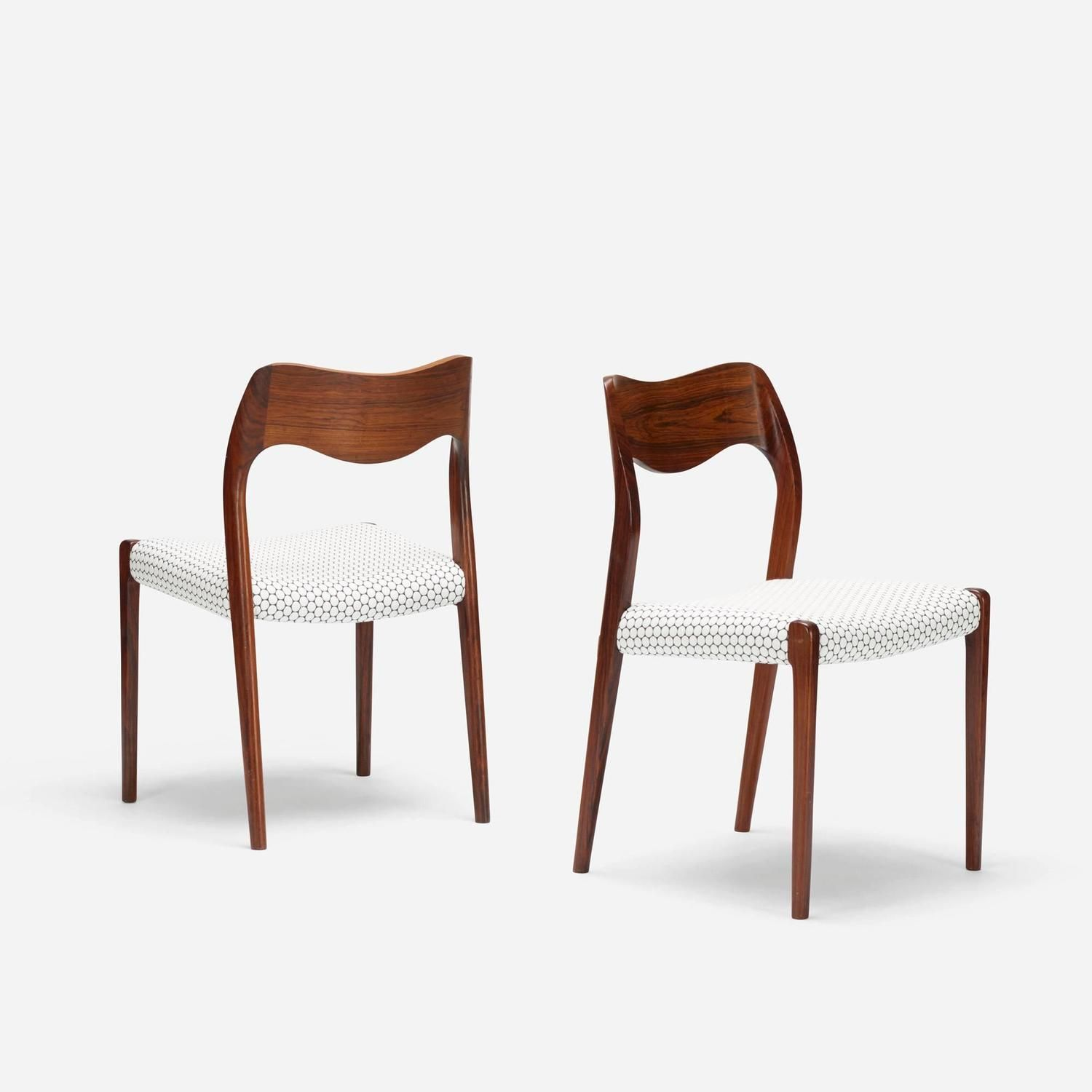 set of six model 71 dining chairs by niels møller for j l møllers