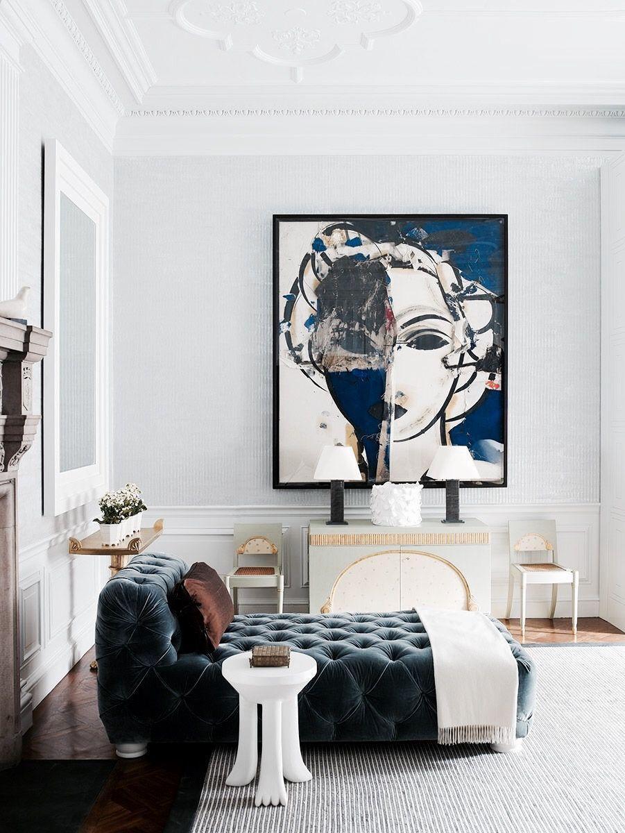 Meridienne Moderne Pour Salon une méridienne matelassée dans le salon | decoration