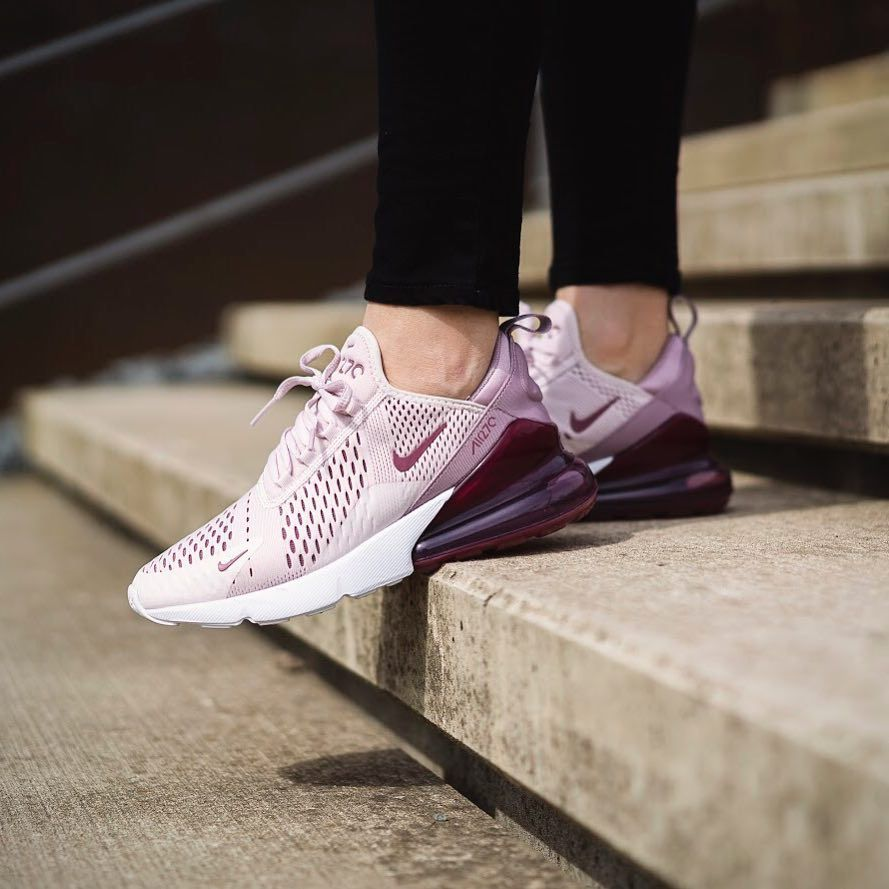 buy popular d303e e9745 Nike Air Max 270 – Barely Rose / Vintage Wine | Shoes | Nike ...