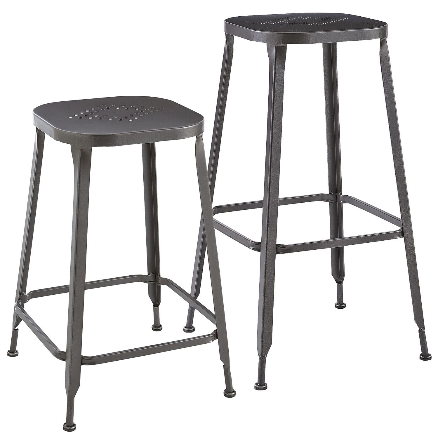 Astonishing Weldon Backless Bar Counter Stools Gunmetal Pier 1 Gmtry Best Dining Table And Chair Ideas Images Gmtryco