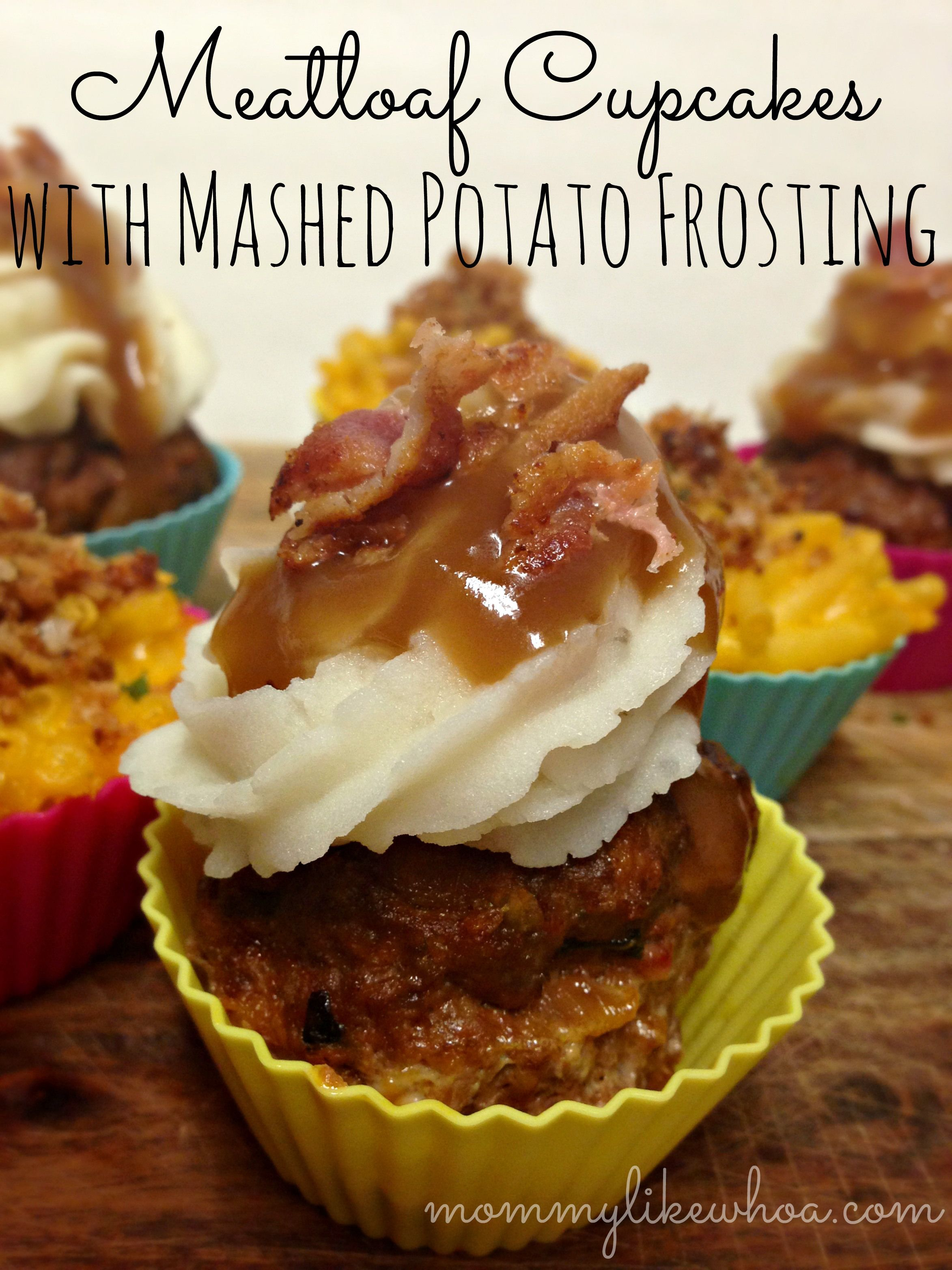 Meatloaf Cupcakes with Mashed Potato Frosting - mommylikewhoa.com