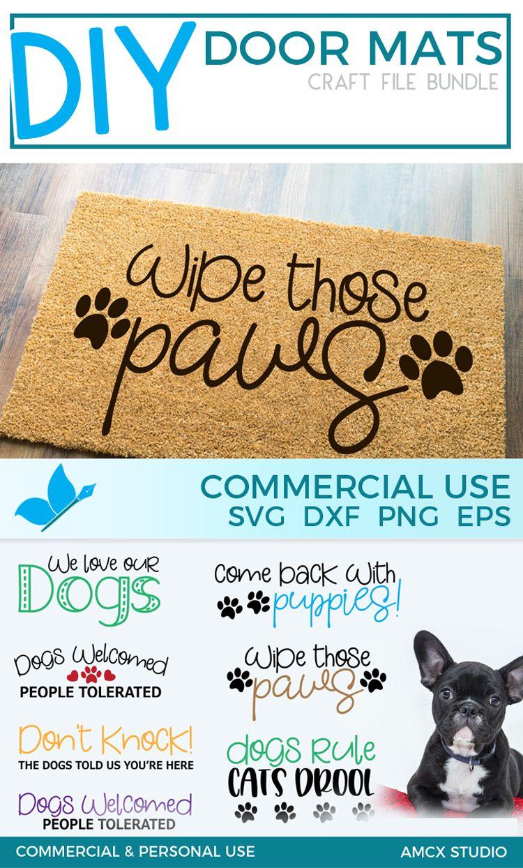 Dogs Rule Sign And Door Mat Bundle Svg File Door Mat Diy Door Mat Cricut Projects Vinyl
