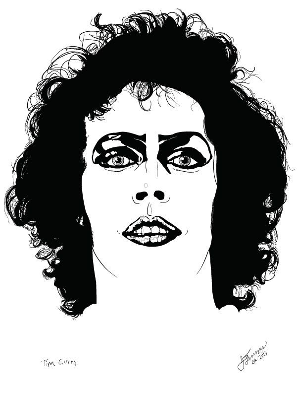Tim curry vector portrait on behance