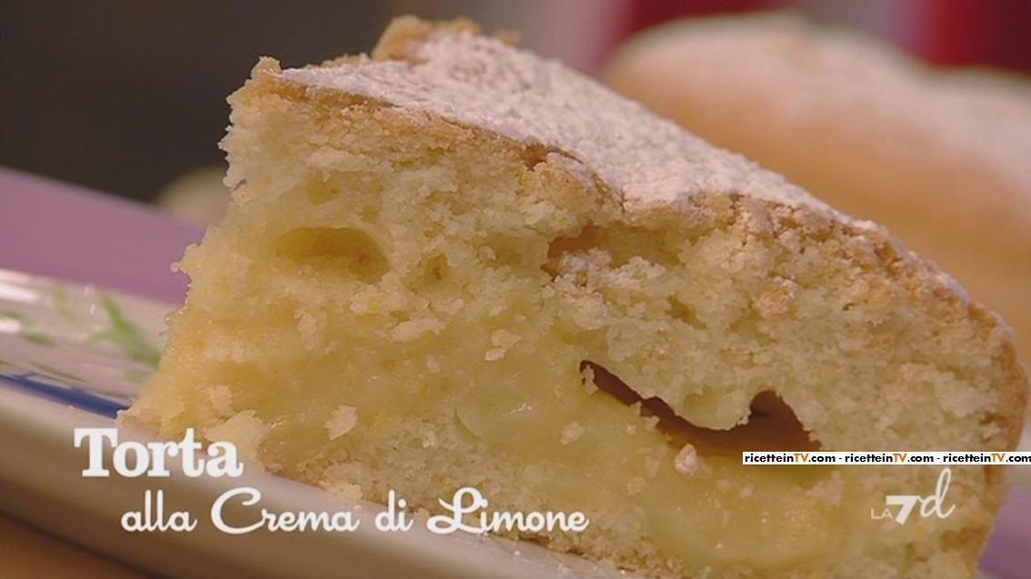 Torta Alla Crema Di Limone Senza Latte Di Benedetta Parodi Dolci