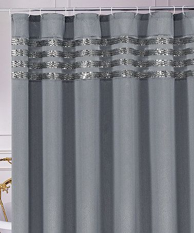 Take A Look At This Gray Sequin Moline Shower Curtain By Chd Textiles On Zulily Today With Images Curtains Turquoise Shower Curtain Shower Curtain