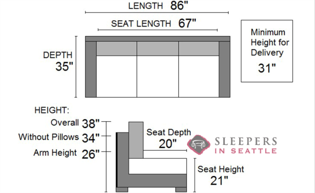 Standard Couch Size image result for standard couch cushion size | tiny house