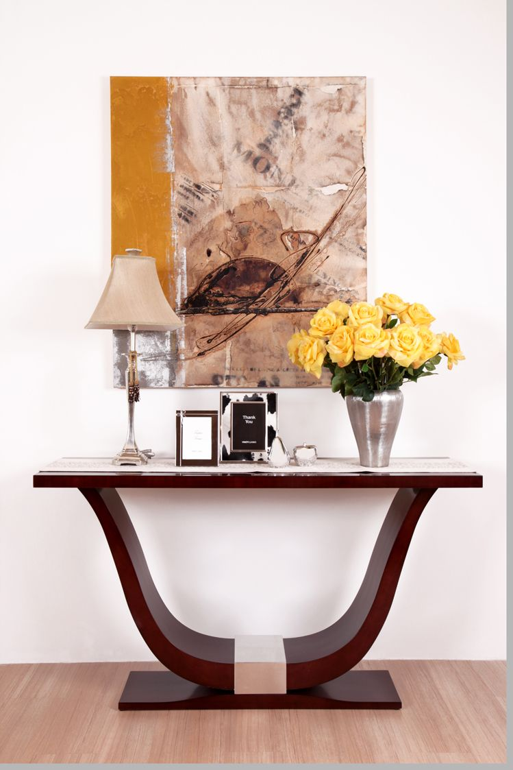Accent Table Silver Leaf