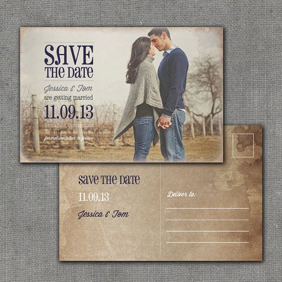 rustic save the date postcard 4x6 printable by mmalerdesigns 15 00