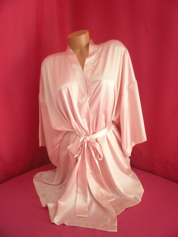 7f8646325ba Victoria Secret Lingerie Angels Kimono Robe Sexy Soft Satin Size O S Light  Pink  VictoriasSecret  Kimono