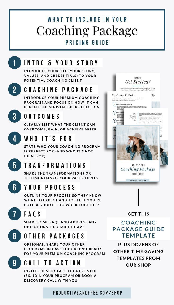 Coaching Package Template — Productive and Free in 2020