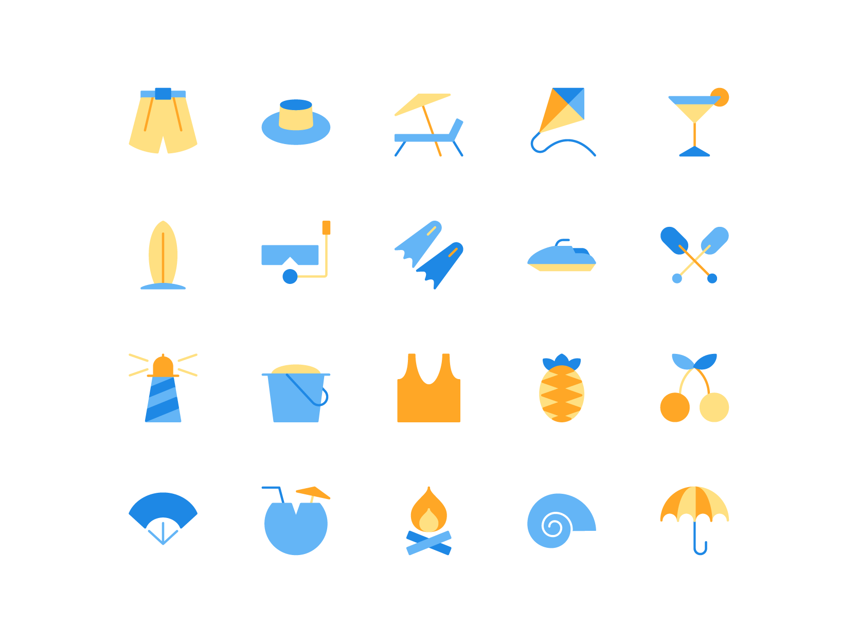 summer icons complete summer icon icon icon design summer icons complete summer icon